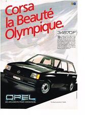 PUBLICITE ADVERTISING  1984  OPEL CORSA  beauté olympique