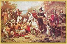 "Postcard J.L.G. Ferris ""First Thanksgiving - 1621"" NrMINT Paw Paw Laminating MI"