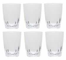 Clear 16 oz Acrylic Water Iced Tea Cup w/ Square Base Plastic Tumbler Set of 6
