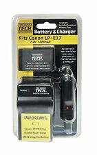 Premium Tech PT-LPE17 Battery and Charger for Canon T6i, T6s SLR Camera LP-E17