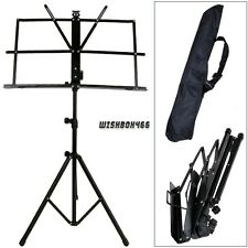 Portable Folding Sheet Music Stand w/ Carrying Bag HOT