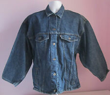 VTG 90s Ladies LEVI'S Reworked Tab Dark Blue Denim Jacket Size Extra Large (C1