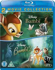 BAMBI 1 & 2 [Blu-ray Disc] 2-Movie Combo Set Disney Classic 1942 Film Collection