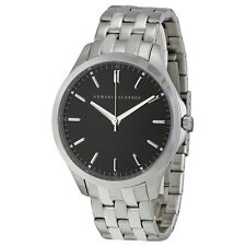 Armani Exchange Black Dial Stainless Steel Mens Watch AX2147