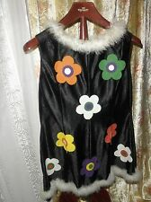70er ! Prilblumen Kleid Minikleid Hippielook KARNEVAL Flower power KULT Retro