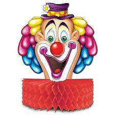 CIRCUS BIG TOP Honeycomb CLOWN CENTERPIECE Carnival Party Decoration