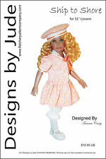"Ship to Shore Doll Clothes Sewing Pattern for 11"" Leeann Dolls"