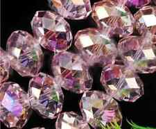 4x6mm Multicolor Pink Natural Crystal Faceted Abacus Loose Bead 98pcs AAAAHH