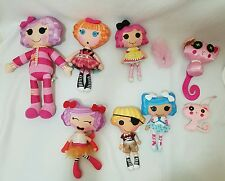 5 Lalaloopsy Soft Rag Doll Plush Lot Boy Pirate & 4 Sweet Girls!