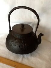 Antique Japanese Cast Iron Bamboo Tetsubin Teapot Beautiful From Personal Collec