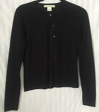 CHARLES CHANG LIMA Black Button Up Cardigan Size Small Cashmere/Silk