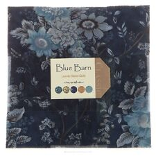 "Blue Barn Fabric 42 Piece Layer Cake 10"" Fabric Squares Laundry Basket Quilts"