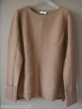 NWT $375 VINCE ALM Wool/Cashmere Blend Ribbed Knit Sweater Size M