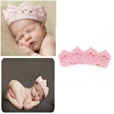 Cute Baby Girl Boy Crochet Knit Crown Hat Photo photography Prop Handmade