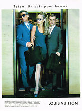 PUBLICITE ADVERTISING 084  1997  LOUIS VUITTON   bagages & accessoires TAIGA