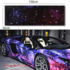"20""x60"" Galaxy Car Wrap Vinyl Printed Graphic Film Sheet Sticker Decal Roll DIY"