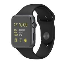 Apple Watch 38mm Space Gray Aluminum Case Black Sport Band MJ2X2 jeptall