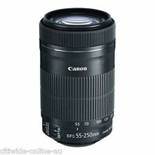 Canon EF-S 55-250mm f/4.0-5.6 IS STM Lens 650D 100D 7D 700D whtie box