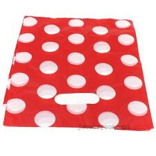 100pcs Pretty Plastic White Dot Boutique Shopping Gift Carrier Bags J