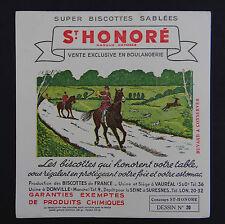 BUVARD BISCOTTES St Honoré Chasse à courre Saint-Hubert Hunting Löscher blotter