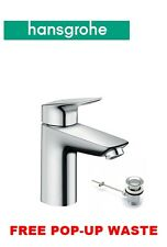 HANSGROHE LOGIS 100 MONO BASIN BATH BATHROOM SINK MIXER TAP & POP UP WASTE