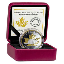 2017 Canada 1 oz Piedfort Gilt PF Silver Maple Timeless Icons PRESALE SKU45230