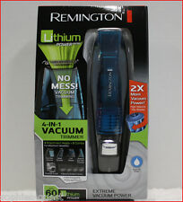Remington LITHIUM 4-in-1 Cordless Extreme VACUUM Trimmer  Beard Hair Nose Shaver