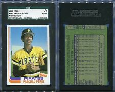 1982 TOPPS #383 PASCUAL PEREZ SGC AUTH (2008) NO POSITION VARIATION WRONGBACK