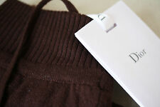 CHRISTIAN DIOR BROWN CASHMERE PANTS FR 38 UK 10