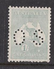 1929 SG 0116 1/- Kangaroo SMW Perfin *OS*MINT UNHINGED Ret$150+