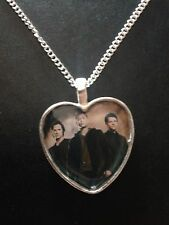 Silver Plated Heart Pendant Necklace Supernatural Sam Dean Winchester Castiel