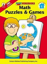 Math Puzzles & Games, Grade 1 (Home Workbooks)