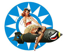 WWII Retro Flying Tigers Bomber Pinup Decal / Sticker S418 by Pinupsplus