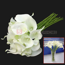 New Calla Lily Bridal Wedding Bouquet 20 heads Latex Real Touch Flower Bouquets