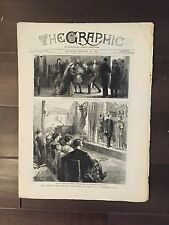 """""""THE GRAPHIC"""" (A Beautifully Illustrated British Weekly Newspaper)--Oct. 22,1881"""