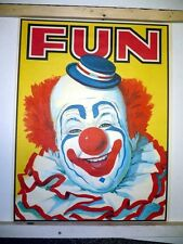 Vintage 1960s KRAFT Products FUN Clown Circus Advertising Poster