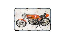 Aermacchi Hd250 60 Motorbike Sign Metal Retro Aged Aluminium Bike