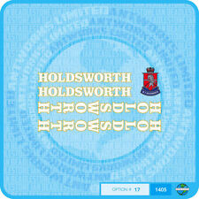 Holdsworth - Bicycle Decals Transfers Stickers - White Fill & Gold Key - Set 17