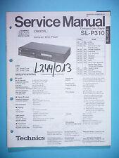 Service Manual-Anleitung für Technics SL-P310,ORIGINAL