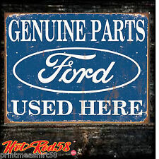 Liscenced American Genuine Ford Parts Vintage Advertising Metal Tin Wall Sign UK