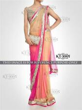 Bollywood Designer Sarees- Beautiful Pink Blend Colourful Net Saree