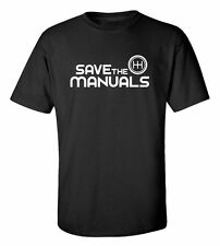 SAVE THE MANUALS Racing Automotive T-Shirt ***FREE SHIPPING* #195T-SHIRT