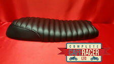 bs2 BRAT / SCRAMBLER STYLE CAFE RACER SEAT FINISHED IN BLACK LEATHERETTE