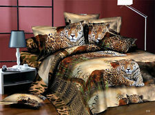 Sale 3D Fashion DUVET COVER ONLY Quilt Cover Queen Tiger