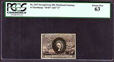 Us 50c Fractional Currency 2nd Issue Fr 1317 Pcgs 63 Ch Cu
