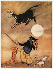 Arthur rackham, le chat & le violon 11 x 14 pouces prêt monté impression vintage