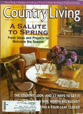 1999 Country Living Magazine: A Salute to Spring/Old Bike Value/Four-Leaf Clover