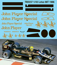 1/43 Lotus 98T John Player Special Decals TB Decal TBD237