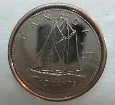 2001P CANADA 10 CENTS PROOF-LIKE COIN