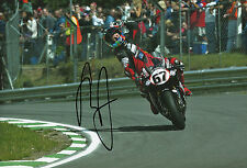 Shane Byrne Hand Signed Monstermob Ducati 12x8 Photo.